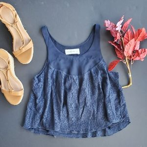 💍Abercrombie and Fitch Blue Lace Tabk blouse